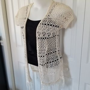 Maurice's Boho Inspired Crochet Fringe Cardigan
